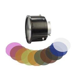 Swit Fresnel 12-40° 3x Lens + filters