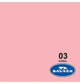 Savage Savage achtergrondpapier op rol 2.72m x 11 mtr #03 Coral