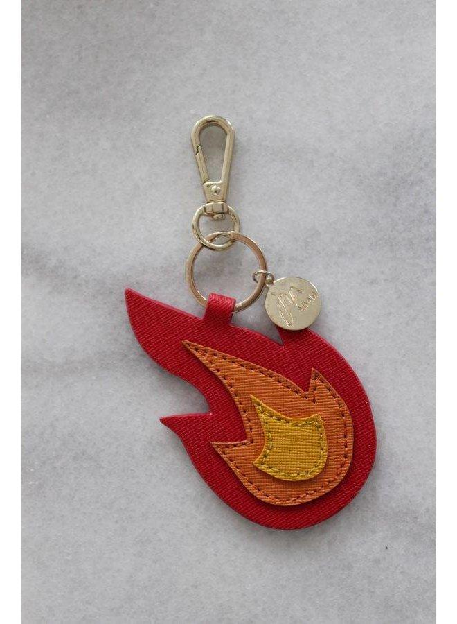 Sleutel/tas hanger: flame