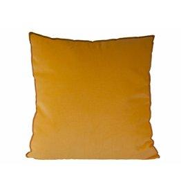 Kussen XL velvet geel