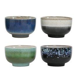 HK Living Ceramic 70's kom set van 4