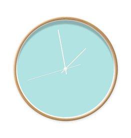 Dutch Sprinkles Klok lichtblauw 30 cm frame hout-wijzer wit
