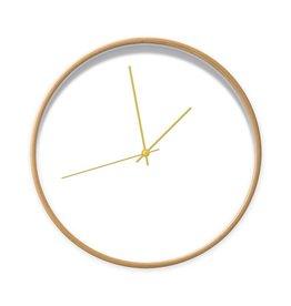 Dutch Sprinkles Klok wit 30 cm frame hout-wijzer goud