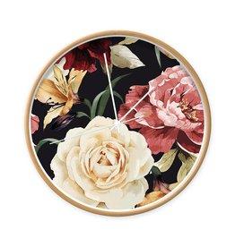 Dutch Sprinkles Klok rozen 30 cm frame hout-wijzer wit