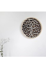 Dutch Sprinkles Klok panter 30 cm frame hout-wijzer wit