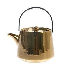 HK Living Bold & Basic ceramics: tea pot gold