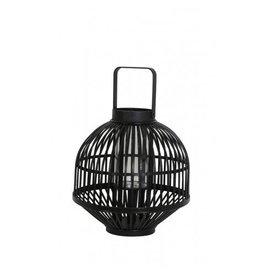 Windlicht 38x54 zwart met hendel