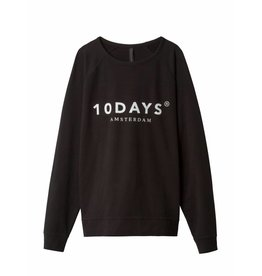 10 Days The crew neck sweater - zwart