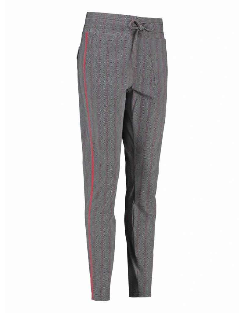 Studio Anneloes Road herringbone red tape trousers