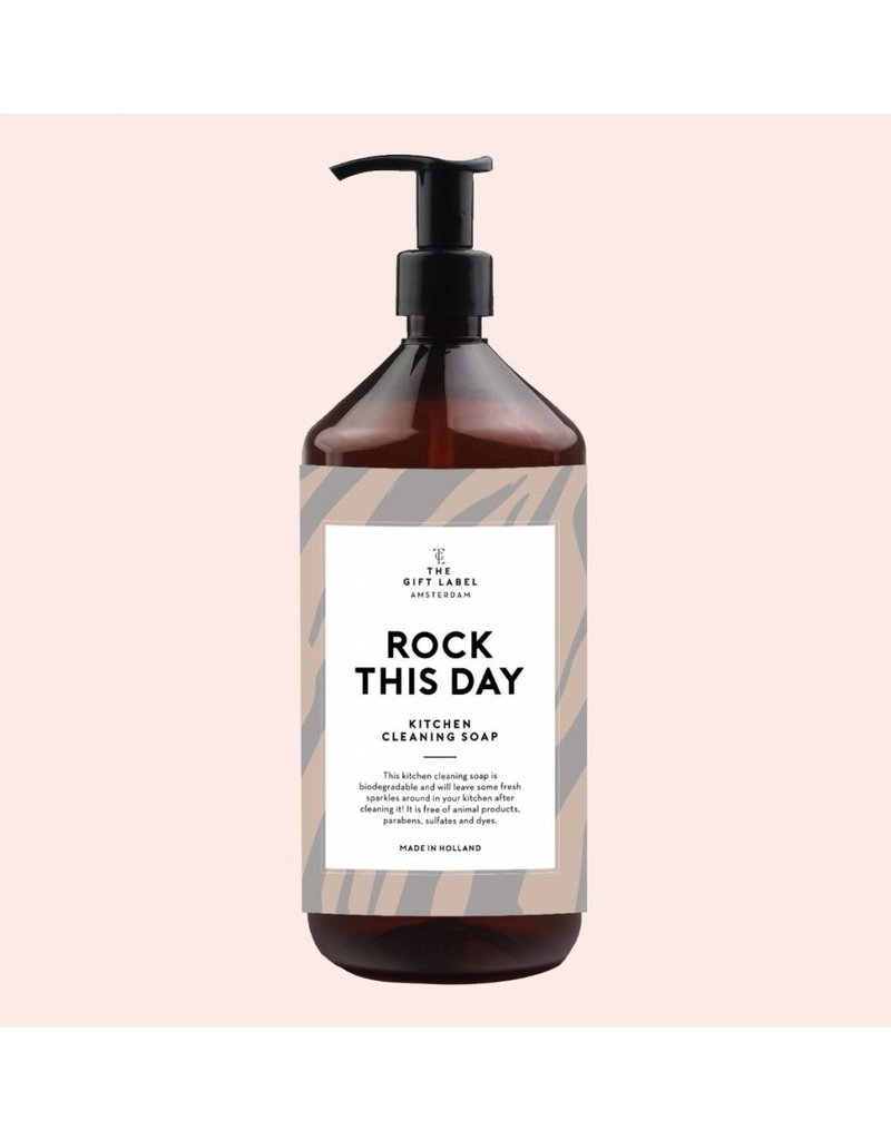 The Gift Label Kitchen Cleaning soap - Rock this day