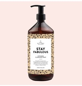 The Gift Label Kitchen cleaning soap - Stay Fabulous