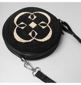 Chalrose Round Bag Black/Off White