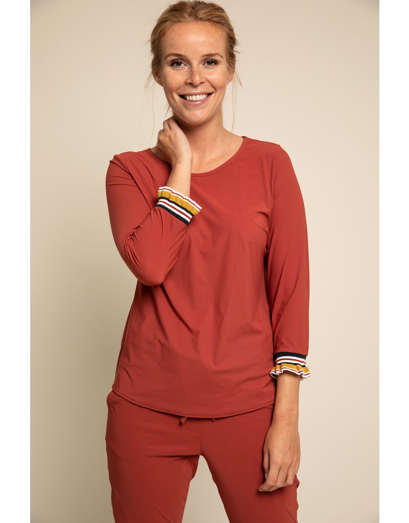 Studio Anneloes Bente ruffle shirt