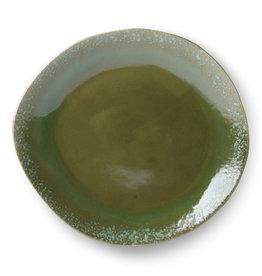 HK Living Ceramic 70's dinner plate green