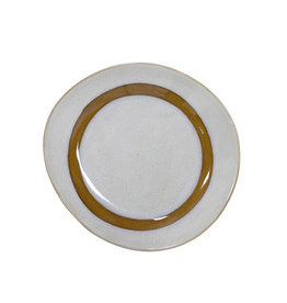 HK Living Ceramic 70's side plate: snow