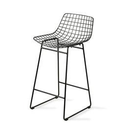 HK Living Wire bar stool black