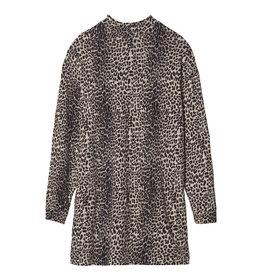 10 Days Turtle neck linen dress leopard