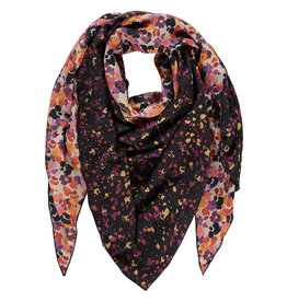 Studio Anneloes Triangle scarf dkblue/coffee
