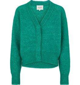 Second Female Brook knit Boxy Cardigan - Lush Meadow