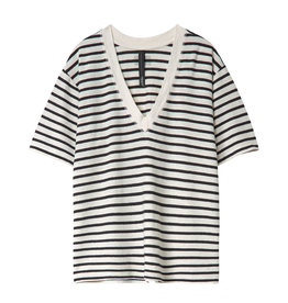 10 Days Reversible v-neck tee stripes 20-750-0201