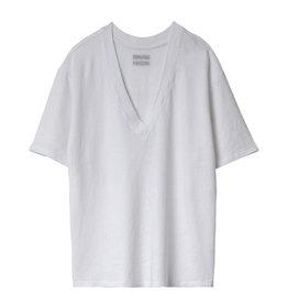 10 Days Reversible low v-neck Tee white 20-749-0201