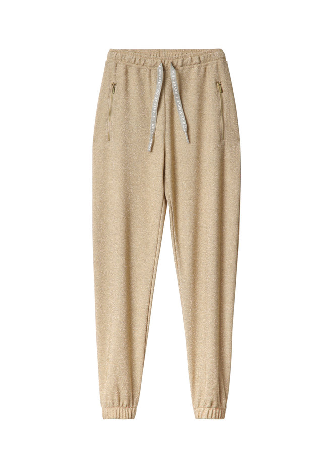 20-010-0201 Slim jogger lurex - gold