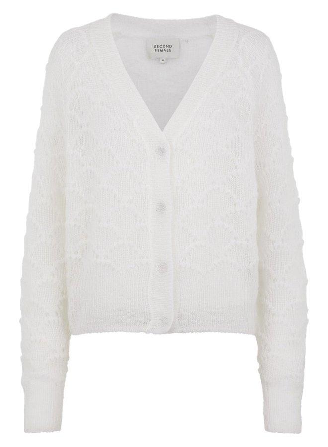 Palm Knit Cardigan - off white