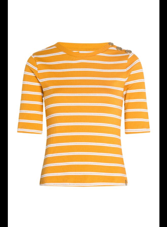 Janne T-shirt - Coco yellow