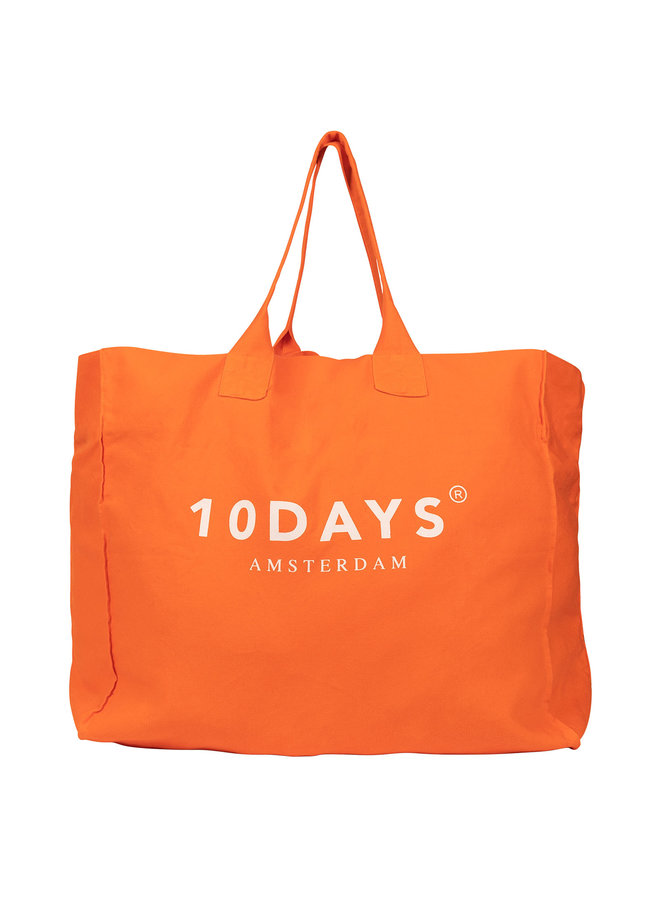 20-960-0202 canvas bag logo - royal orange