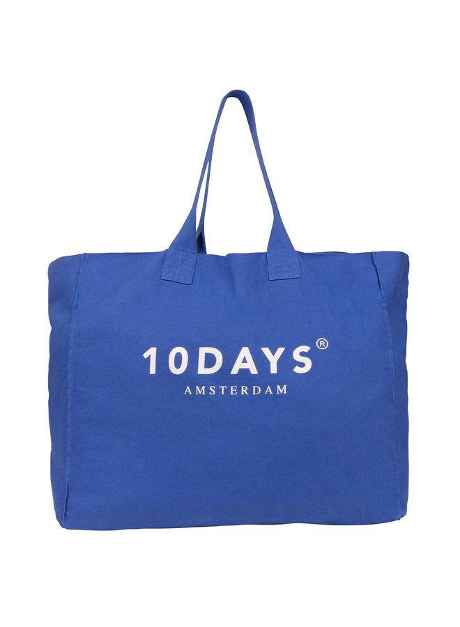 20-960-0202 canvas bag logo - royal blue