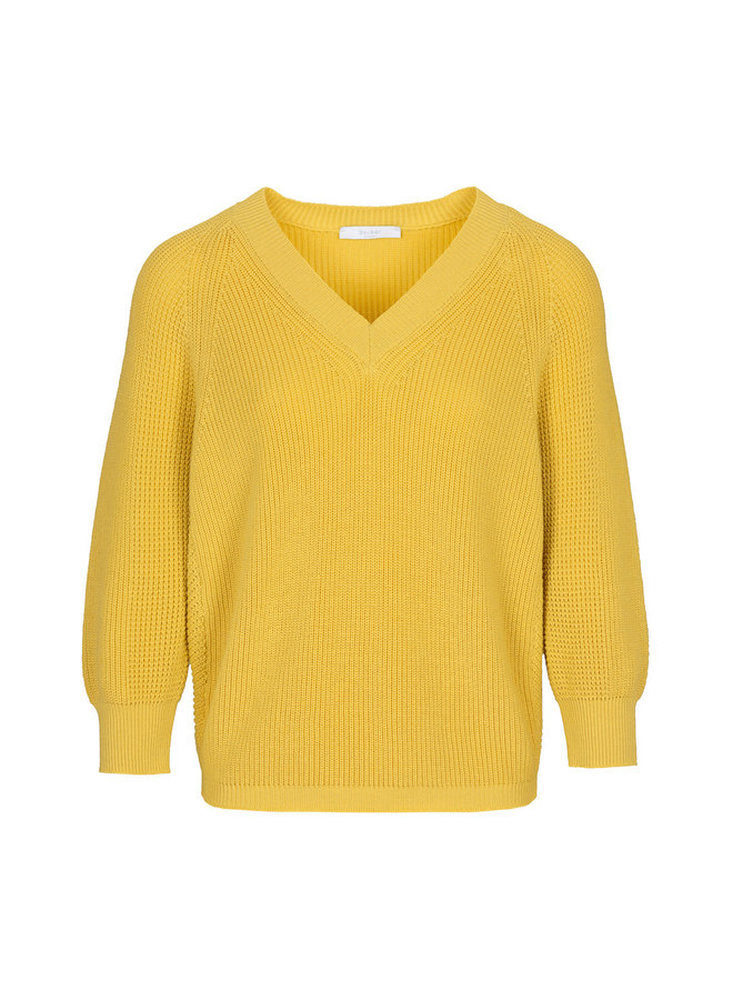 New lune cotton pullover - geel