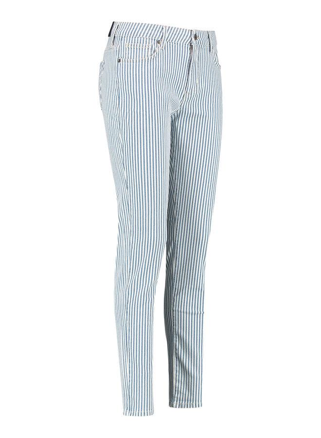 Lize stripe jeans trousers