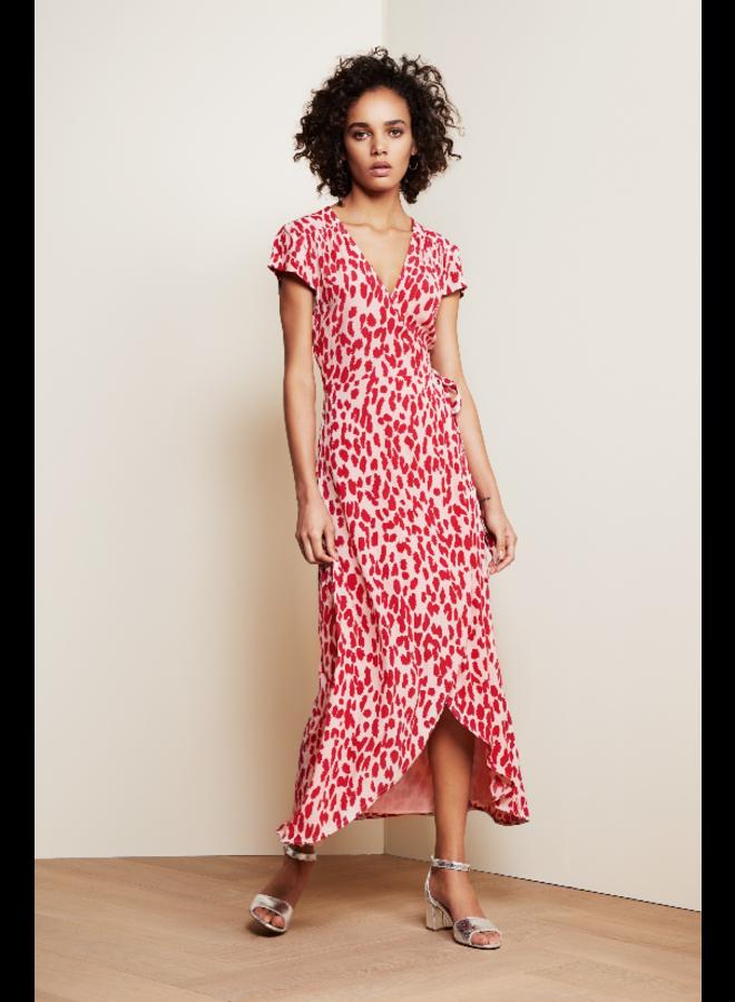 Archana dress - Frutti red/cream white