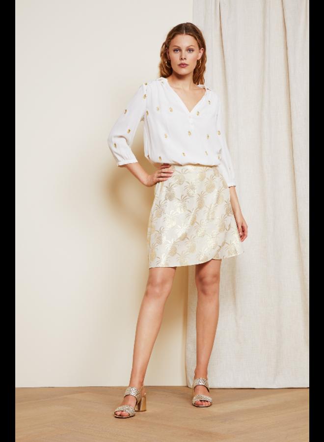Trudy Embro top - cream white