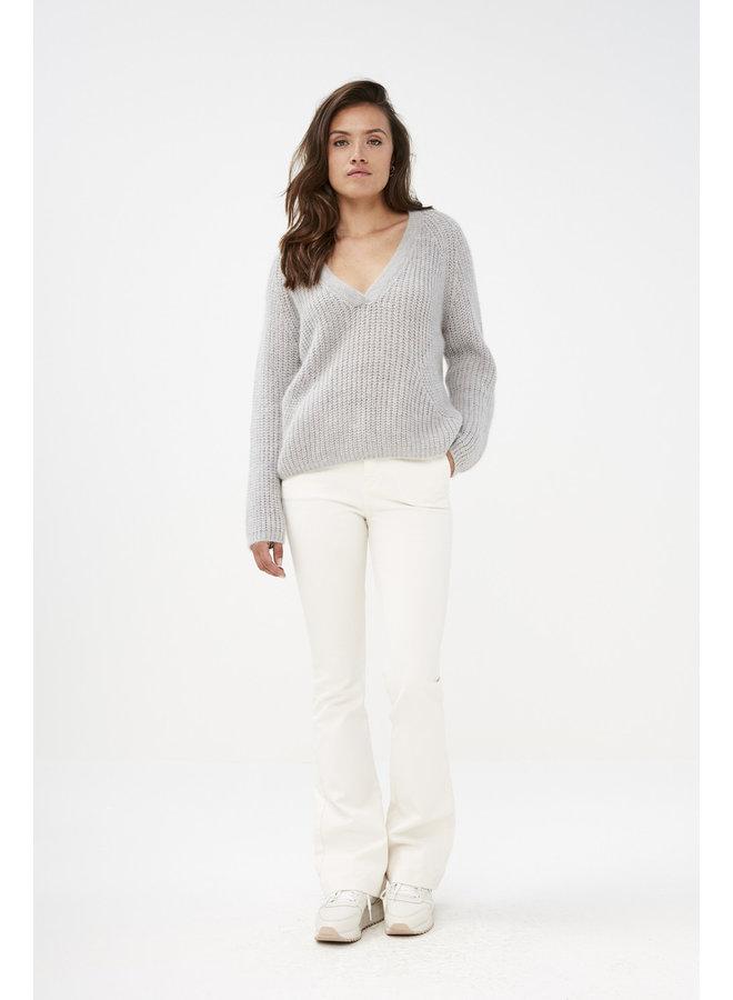 Leila pant twill - off white