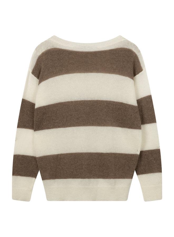 20-615-0203 sweater stripes - ecru