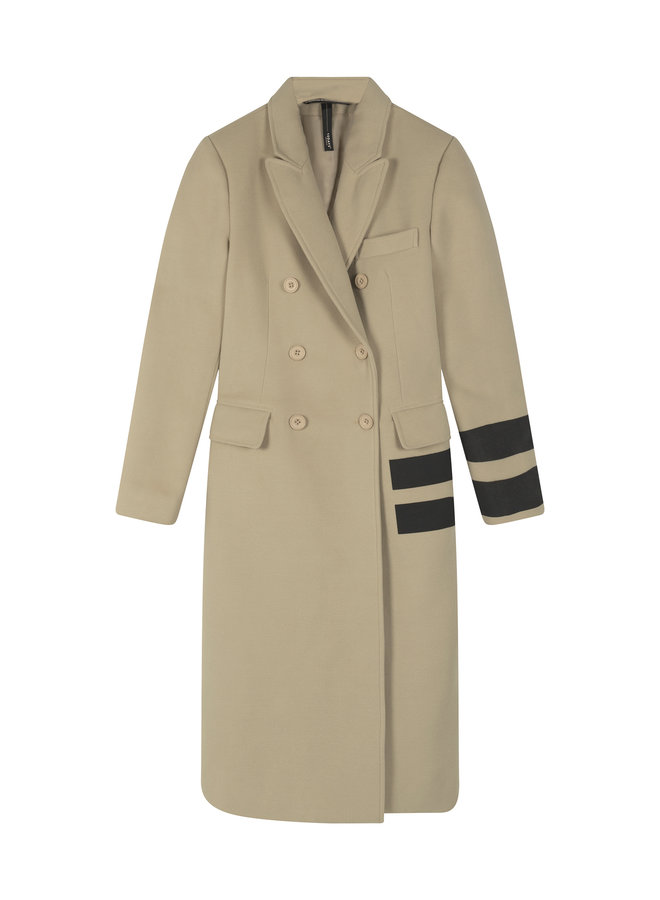 20-575-0203 Wool coat two stripe
