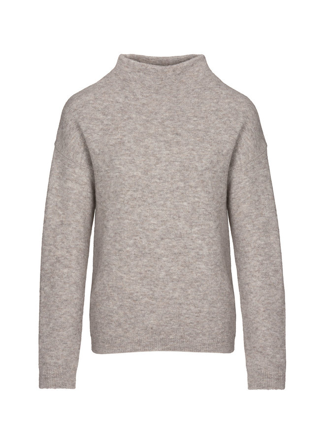 Moss pullover solid - dark sand