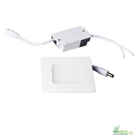 Optonica 3 watt Niet Dimbare SLIMLine Inbouwspot Lars | Warm wit 25MM Inbouwdiepte