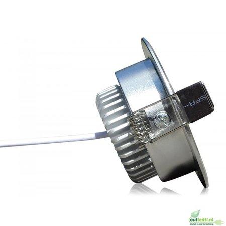 OutledTL 3 watt Dimbare  LED Inbouw Spot Nick | Warm wit 2700K
