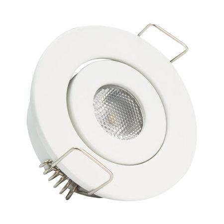 OutledTL Mini LED Inbouwspot Stef - 1 watt - Wit - rond - 3000K- warm wit