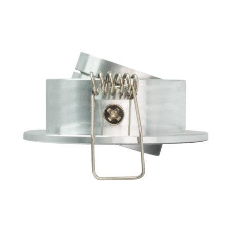 OutledTL Mini LED Inbouwspot Ruben - 1 watt - RVS - rond - 3000K- warm wit