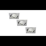 Philips LED Inbouwspot Bastiaan - Set van 3 stuks - Geborsteld RVS