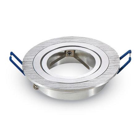 Philips 4 Watt Dimbare Philips LED Inbouwspots Lucas  | Zilver RVS kantelbaar rond