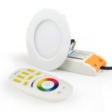 Mi.Light 6  watt RGB+CCT Dimbare kleuren inbouwspot Stanley  |  Wit rond