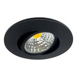 OutledTL 3 watt Dimbare  Zwarte Inbouwspot Sjors | Extra Warm wit 35MM Inbouwdiepte