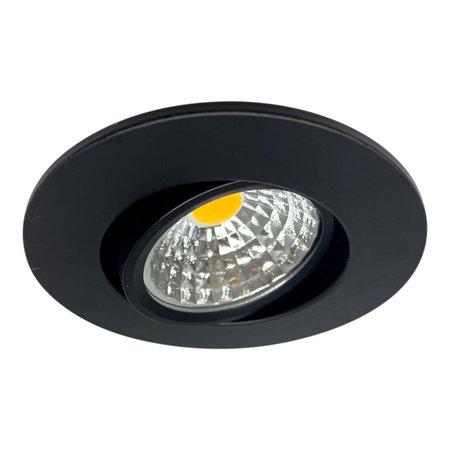 OutledTL Led Spot Sjors - Zaagmaat 55MM - 3 watt - Dimbaar - Zwart - Warm wit
