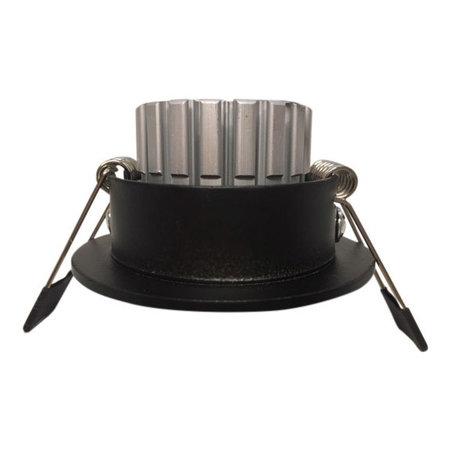 OutledTL Led Spot Sjors - 3 watt - Dimbaar - Zwart - Warm wit - 2700K