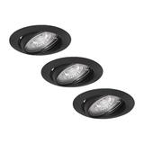 Philips LED Spotjes Damian - Set van 3 stuks - 4 watt -  Dimbaar - Mat zwart