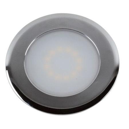 OutledTL Mini 230V LED Inbouwspot Steffie  - 2 watt  - Chroom - 3000K- 16MM Inbouwdiepte